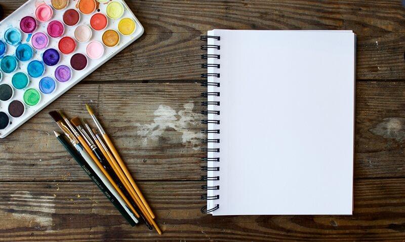 絵具とノート