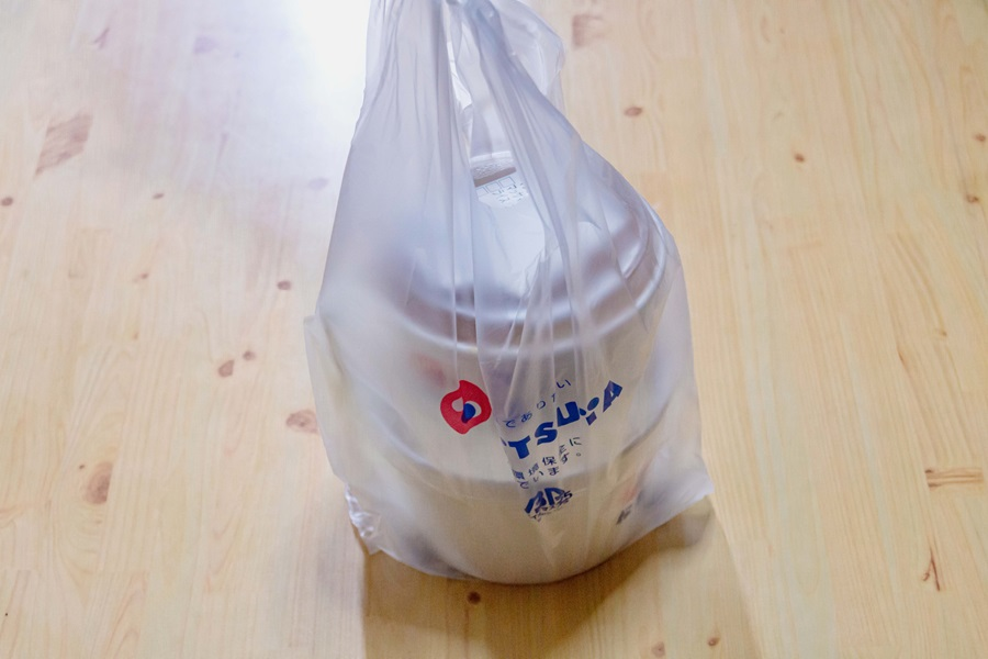 松屋さんのテイクアウト用袋