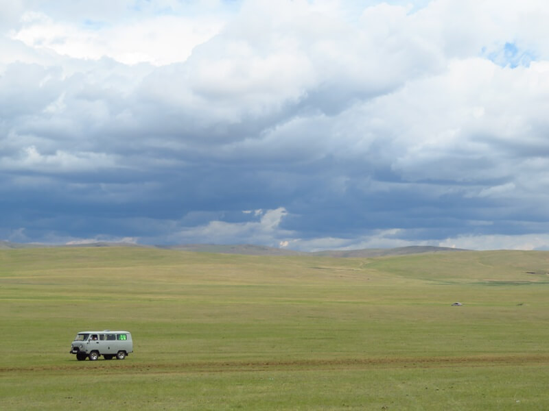 モンゴルの草原